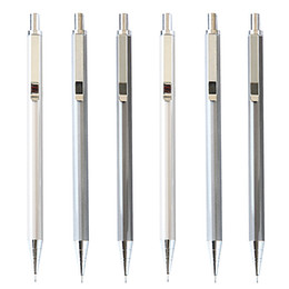 Wholesale Mechanical Pencil For Free - Wholesale-New Deli Brand 0.5mm Metal Automatic Mechanical Pencil for Students Writing Drawing School Supplies Free shipping