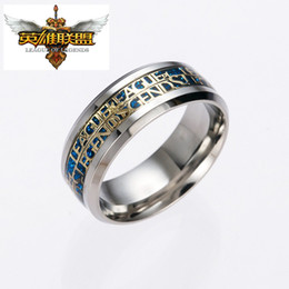 Wholesale Lol Hot - 3 Style Silve Plated 316L Stainless Steel Women Accessories Hot Game Legend Of League LOL Ring Men Novelty Cartoon Rings Gifts