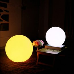Wholesale Ip68 Battery Led - Wholesale- 60cm Rechargeable Cordless Outdoor LED Lighted Lawn Ball Color Changing Plastic Remote Control Sphere vanity lights