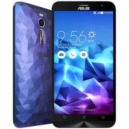 Wholesale Deluxe 4g - ASUS Zenfone2 DELUXE ZE551ML Android 5.0 5.5 inch 4G Phablet Intel Atom Z3560 1.8GHz Quad Core 4GB RAM 16GB ROM 5.0MP + 13.0MP Cameras+B
