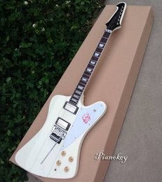Wholesale floating body - White color firebird style guitar,Floating bridge,accept custom electric guitar,free shipping