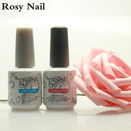 Wholesale Soak Off Led - High quality Harmony Gelish nail polish colors Top and Base coat LED UV Gel nail polish gelish Nail art lacquer Soak off