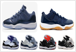 Wholesale Gold Carolina - Best 11 Low Blue Moon Carolina Concord bred Georgetown Barons 72-10 Basketball Shoes XI Low men Sports Shoes Outdoor Athletics Women Sneaker