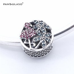 Wholesale Flamingo Bracelet - Pandulaso Tropical Flamingo Beads for jewelry making Fits Pandora charms Bracelets For Woman DIY Charms Silver 925 Jewelry 2017 Summer
