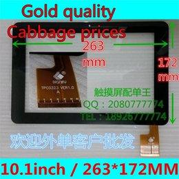 Wholesale Sanei Quad Wholesale - Wholesale-10.1inchfor Sanei N10 AMPE A10 Quad Core Tablet PC TPC0323 ver1.0 Touch Screen Digitizer 263*172mm Touch Pane black COLOR