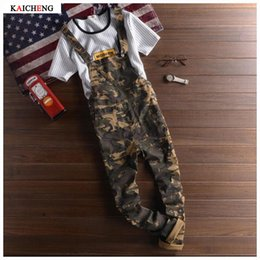 Wholesale Hiphop Fashion Stripe - Wholesale-High Quality Man Men's Hot Fashion Camouflage Brand Style Hiphop Casual Overalls Jeans Men Skinny Designer Pants Plus S-XXL