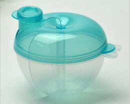 Wholesale Baby Food Containers - 3 Grid Separated Milk Powder Dispenser Food Container Baby Storage Feeding Box Travel Storage Portable Breast Milk Box For Kids A173