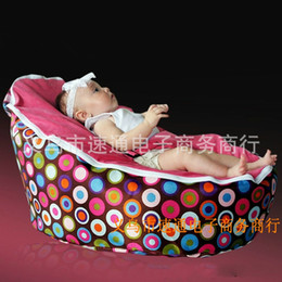 Wholesale Baby Crib Bean Bag Sofa Chair Settee Bed Cover Infant Couch Lazy Bed Deck Chairs Bedroom Sofas Bed Case Pastoral Style xt C