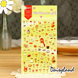 Wholesale Photo Decal Paper - Wholesale- 2016 Mushrooms Girl Paper DIY Scrapbooking Stickers Decorative Sticker Diary Decor Photo Album Decals
