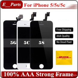 Wholesale Iphone 5c Screen Dhl - Best Quality For iPhone 5 5S 5C LCD Display Touch Digitizer Screen with Frame Full Assembly Replacement By Fast DHL shipping