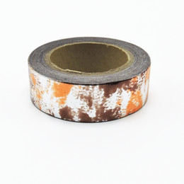 Wholesale Foil Japanese - Wholesale- 2016 (1pc Sell) Foil Washi Tape Set Japanese Stationery Scrapbooking Decorative Tapes Adhesive Tape Kawai