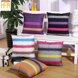 Wholesale Velvet Cushions Wholesale - 45*45Cm Decorative Pillow Covers Cushion Case Stripe Velvet Pillow Covers Double Sides Printing Geometry Pattern Cushion Covers Mixed Colors