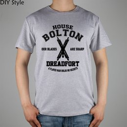 Wholesale Green T House - Wholesale- game of thrones house bolton dreadfort OUR BLADES ARE SHARP T-shirt Top Lycra Cotton Men T shirt New