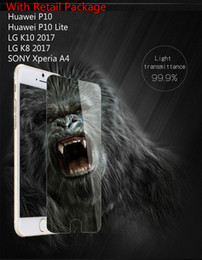 Wholesale A4 Glossy - Tempered Glass Screen Protector For Huawei P10 P10 Lite SONY Xperia A4 LG K10 2017 K8 2017 Ultra HD Film With Packing 10 in 1