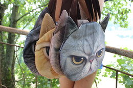 Wholesale Cat Head Handbag - New Listing Original Retro Cartoon Animals Bags Dog Head Personalized Tote Bag Women's Fashion Handbag 3D Printed Cat Head Shoulder Bag