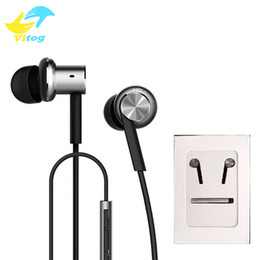 Wholesale Noise Cancelling High Quality Headphone - E-MI High Quality Xiaomi Hybrid Earphone 2 Units In-Ear HiFi Earphone Xiaomi Mi 1 more Piston Headphones with Mic Remote