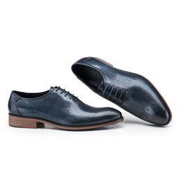 black friday dresses Promo Codes - 2017 New Arrival Mens dress Flat Shoes Luxury Men's Business Oxfords Casual Shoe Black Friday Leather Derby Shoes