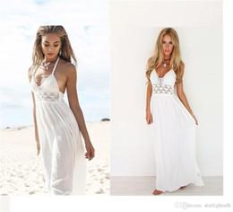 Wholesale Wholesale Dress Night Elegant - Female female sling Halter Dress Lace stitching Chiffon sexy and elegant fashion 2017 summer new ouc252