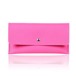 Wholesale Magnetic Cream - Korean version of the new lady thin wallet leather color long vertical section of MS magnetic buckle long wallets card hand bag