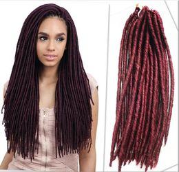 Wholesale Synthetic Hair Extensions Wavy - 20inch 24strands per pack janet collection locs havana mambo faux locs crochet locks hair havana mambo dreadlocks black women wavy curly