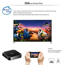 Wholesale Flash Google - X96 Mini Android 7.1 Amlogic S905W STB tv box 1GB + 8GB Flash 17.6 4K Smart Android TV Box