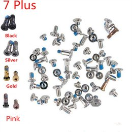 Wholesale Iphone Dock Screws - 100% Original Quality for iPhone 5 5C 5S 6 6S 7 Plus Complete Full Kit Screws Sets With Bottom Dock Screws (419IPAM10)