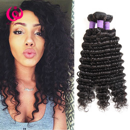 indian products wholesale price Canada - Cambodian Deep Wave Hair Weave Bundles Wow Queen Hair Products Cheap Wholesale Price Soft and Thick 8-26inch Combadian Virgin Human Hair