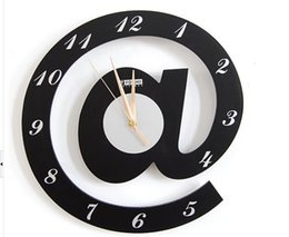 Wholesale Ornamental Clocks - Wholesale- Free Ship @ Letter Mathematical Wall Clock Ornamental Personalized Stylish Quartz Silent Decorate For Office&Bedroom