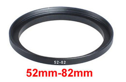 Wholesale 82 Mm - Wholesale- 52mm-82mm 52-82 mm 52 to 82 Step Up Filter Ring Adapter for dslr camera