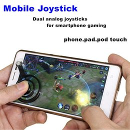 Wholesale Touch Pad Cell Phones - 2pcs Lot Mini Mobile Joysticks Touch Screen Joystick For Smartphone Tablet Arcade Games Cell Phone Pad