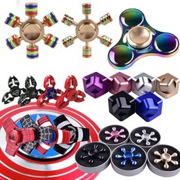 Wholesale Cnc Hand - Fidget Spinners Toy Hand Spinner Golden Alloy Metal Multi Style Bearing CNC EDC Finger Tip Rotation Anxiety for kids toy ZH02