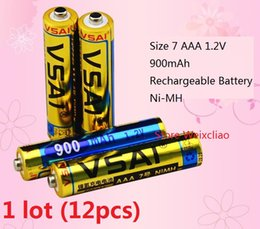 Wholesale Wholesale Rechargeable Volt Batteries - 12pcs 1 lot Size 7 AAA 1.2V 900mAh Ni-MH Rechargeable Battery 1.2 Volt Ni MH batteries free shipping