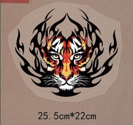 Wholesale Christmas Iron Transfers - Personalized Tigers Patch Two Sizes In Stock Ironing Stickers For Clothes Heat Transfer A-level Washable Applique Christmas Gift