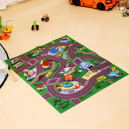 Wholesale Mat Tracks - Funny Baby Crawling Mats Cartoon Traffic track Game Carpet Cotton Floor Rug Baby Activity Play Mat For Children As Birthday Gift