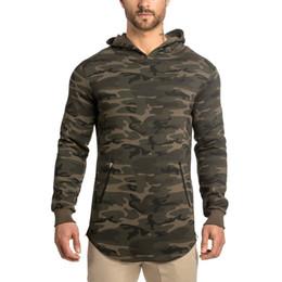 Wholesale Solid Pull Overs - Wholesale- 2017 Men's Hoodies Sporting Hoodies Male Sweatshirt Slim Tight Zip Up Full Sleeve Muscle Brothers Man Pull Over Coat Sportwear