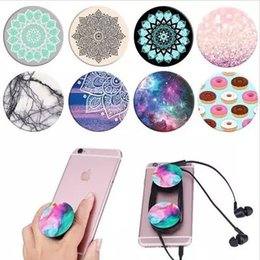Wholesale Logos Tablet Pc - 2017 Pop phone socket mobile holder For iPhone 7 Cell Phone Tablet PC with retail package Real 3M glue support reusable Custom Logo