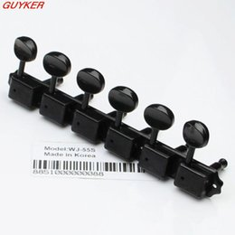 Wholesale Deluxe Tuners - 1set Deluxe WJ55S 6 In line Machine Heads   Tuners Black New Guitar parts