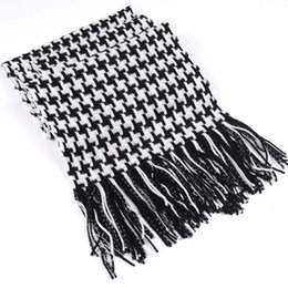 Wholesale Men Houndstooth Scarf - Wholesale- Houndstooth Scarf - HOT SALE Popular Men's Autumn And Winter Warm Imitation Cashmere Scarf #1509696