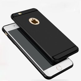 Wholesale Iphone Case Wholesale Free Shipping - Matt case for iPhone 6 6S plus with bright line solid color soft Flexible TPU material free shipping