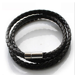 Wholesale Party Coolers - p2 Hot NEW Multilayer Synthetic Leather Braided Rope Bracelet Wristband Mens Cool Bangle Cuff Gift Drop Free