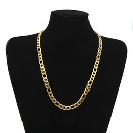 Wholesale Chunky Gold Plated Chain - Chunky HipHop Gold Chain for Men Jewelry Wholesale Gold Plated Thick Heavy Chaine Necklace Bijoux Homme