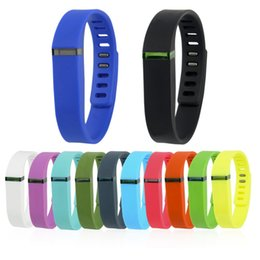 Wholesale fitbit flex wristband small - Fitbit Flex Large And Small Replacement Wrist Band With Metal Clasps Bracelet Wristband Rubber TPU Wrist Straps For Activity Bracelets