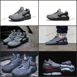 Wholesale Tech Sale - 2017 Newes Air Huarache Run Tech Fleece Shoes Women And Mens Huaraches Sneakers Hot Sale Huarache Shoes Running Shoes Size 36-45