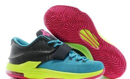 Wholesale Carnival Cuts - Kd7 VII CARNIVAL mens Basketball Shoes top quality kd 7 HYPER JADE PINK sport shoe with shoes box