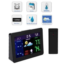 Wholesale Digital Indoor Outdoor Wireless - Wireless Digital LCD Display Thermometer Indoor Outdoor Temperature Sensor Weather Station HS849