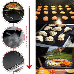 Wholesale Garden Barbecue Grill - Barbecue Mat Durable Reusable Black Non Stick BBQ Grill Mat FDA Approved PFOA Free Easy Clean Outdoor Cooking Tool BBQ Lawn & Garden Cooking
