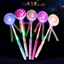 Wholesale Led Light Concert - Led Glow Stick Multi Color Lollypop Loving Heart Neon Party Light Stick Wand Novelty Toy Vocal Concert Sticks Cheer Props