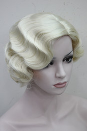 Wholesale Ladies Synthetic Wigs - Hivision Short Finger Wave Women Ladies Natural Daily Hair Retro Classic Synthetic wig 10 color select