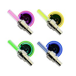 Wholesale Colored Bikes Wholesale - Cycling LED Light Bike Bicycle Wheel Tire Valve Cap Spoke Neon LED Lights Safety Lamp For Bike Bicycle Car Motorcycle