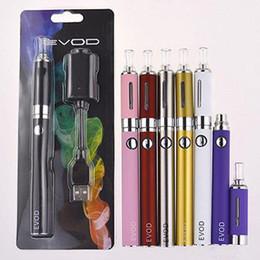 Wholesale Ego Blister Pack Dhl - EVOD MT3 Blister pack kit ego starter kits single kits e cigs cigarettes 900mah battery MT3 atomizer DHL free distribution